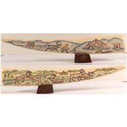 Hand Carved Colored Tusk
