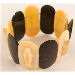 Inuit Ivory and Baleen Bracelet