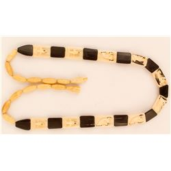 Ivory and Black Stone Necklace