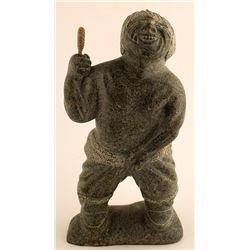 Sculpture of Laughing Man Holding His Pants On, Sak Kannuk