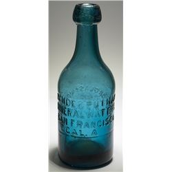 Lynde & Putnam Mineral Waters Bottle