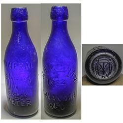 M. T. Quinan Cobalt Bottle