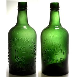 Large Congress & Empire Spring Co. Mineral Water Bottle