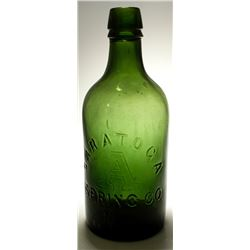 Pint Saratoga Spring Co. Mineral Water Bottle