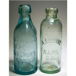 Two Napa Soda Bottles