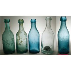4 Nice California Soda Bottles
