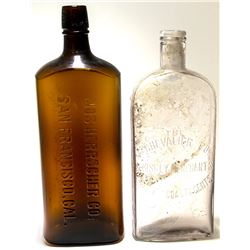 Jos. Herrscher Co. Rectangular Amber and F. Chevalier Bottle