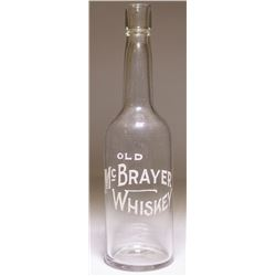 Old McBrayer Whiskey Back Bar Bottle