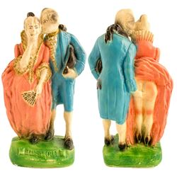 George and Martha Washington Chalkware (with a secret)