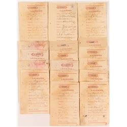 Territorial Receipts for Montana Gaming Dealers (Faro, Poker)
