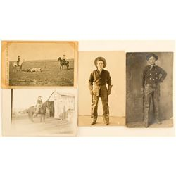 Four Cowboy Real Photo Postcards