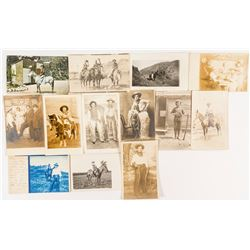 'Posing for the Camera' Cowboy Real Photo Postcards