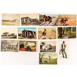 Cowboys at Rest and Play Postcard Collection