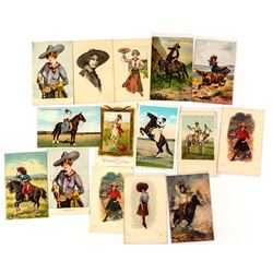 Cowgirl Postcard Group