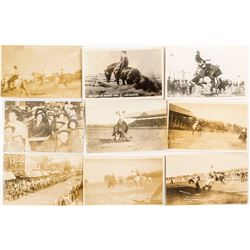 Nine Rodeo Real Photo Post Cards
