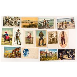 Men of the Wild West Postcard Group