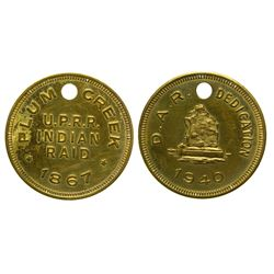 Plum Creek Indian Raid Token/Medal