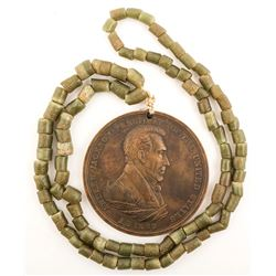 Andrew Jackson Peace Medal and Necklace