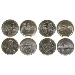 Four Silver Medallions from Heraldic Art