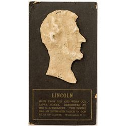 Lincoln Bust Made From Old Currency