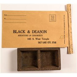 Assay Ingot Mold and Black & Deason Assayer Envelope