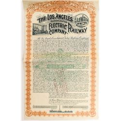 The Los Angeles Consolidated Electric Railway Company Bond (1892)