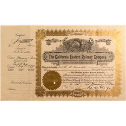 California Eastern Railway (Nevada Southern) Stock Certificate