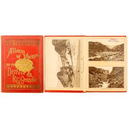 Album of Views of the Denver & Rio Grande - Red and Gold Hard Cover