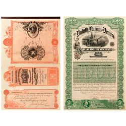 Duluth, Huron and Denver Railroad Company Bond (1887)