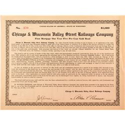 Chicago & Wisconsin Valley Street Railways Company Bond (1912)