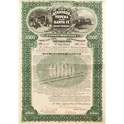 Atchison, Topeka and Santa Fe Railway Company $1,000 Bond (1895)