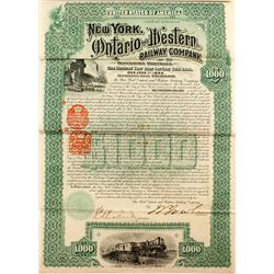 New York Ontario and Western Railway Company (1892) (Foreign Revenue Imprints)