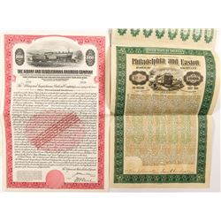 Two Different Pennsylvania Railroad Bonds