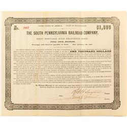 The Southern Pennsylvania Railroad Company Bond (1885)
