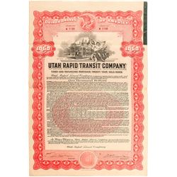 Utah Rapid Transit Co. Bond (1920)