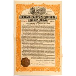Spokane, Valley & Northern Railway Company Bond (1917)