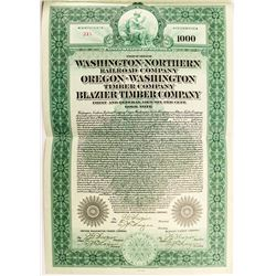 Washington-Northern Railroad Company Bond (1912)