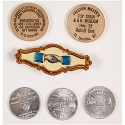 7 Different Railroad and American Novelty Pieces
