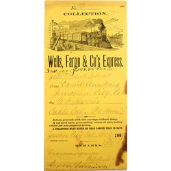 Junction City Wells Fargo Collection Envelope