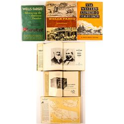 2 Wells Fargo Books and a Stagecoach Book