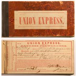 RARE Union Express Domestic Bill of Lading Book