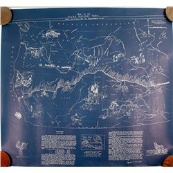 5 Large Copies of the Map of the Pony Express