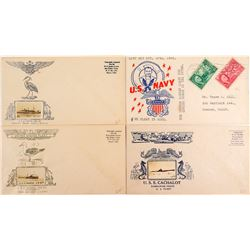 Four U. S. Navy WWII Covers