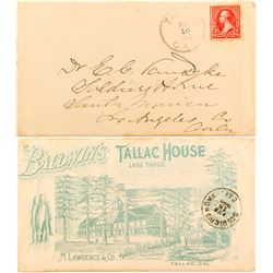 Lake Tahoe Full Cover Tallac House Advertising Cover