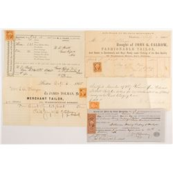 Official Stamped Documents: Early 1860's