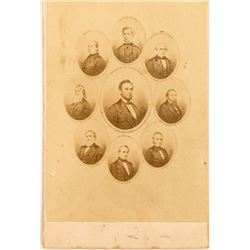 CDV of President Lincoln and His Cabinet
