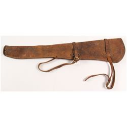 Antique Leather Rifle Scabbard