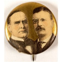 McKinley and Roosevelt Campaign Button