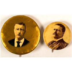 2 Different Theodore Roosevelt Buttons