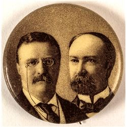 Theodore Roosevelt and Charles Fairbanks Jugate Button